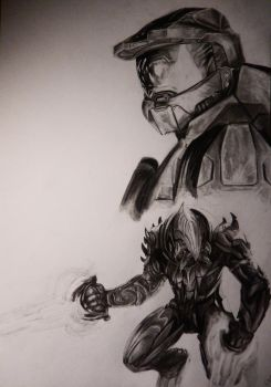 Halo - Master Chief and Arbiter by ThugF0rLife