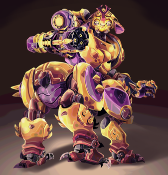 Orisa Megasona Skin - Commission by MarlonLeal