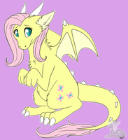 Fluttershy Dragon by LexiCakes