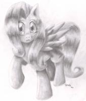 Graphite Fluttershy by km100t