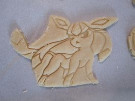 Glaceon Cookie Dough Cut by B2Squared