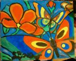 butterfly fill-in painting by zippymom97