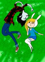 Marshall Lee x Fionna by princess-hylian