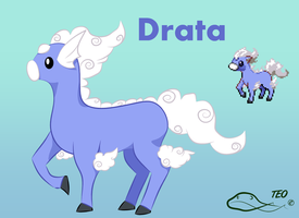 Pokemon Fusion - Drata by The-Emerald-Otter