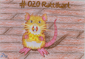 #020 Raticate by DonataRosca