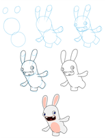 How I draw rabbids - Tutorial by gabrielcic