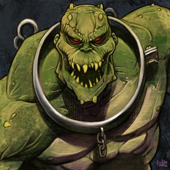 Daily Sketches Killer Croc by fedde