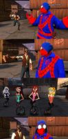 Spiderman Girls on Unicycles by ErichGrooms3