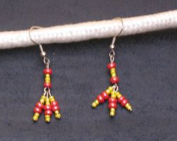 Firey Tridrop Earrings by LadyTal