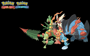 Omega Ruby and Alpha Sapphire Starter Background by spyroflame0487