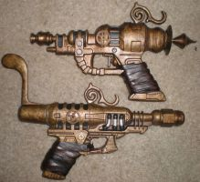 Steampunk Pistols (finished) by Shadowfox012
