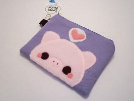 Pudding Pig Coin Pouch by quacked