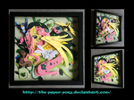 Bronycon 14 Charity Auction Fluttershy Shadowbox by The-Paper-Pony