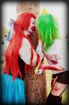 Little Mermaid and Female Cosmo Zombie Cosplay by GaaraBakemono
