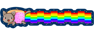 Nyan Cat bookmark by Willow-San