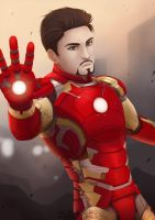 Iron Man by AlbieReo