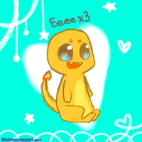 Charmander Eeees by Chibbur