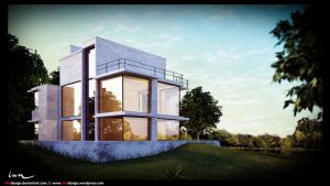 Empty Lake House - L.C by 4bedesign