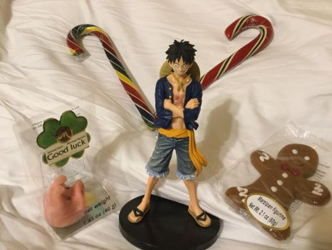 Luffy's Holiday Treats by the-ocean-sings