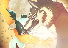 Midna and Wolf Link by majoura