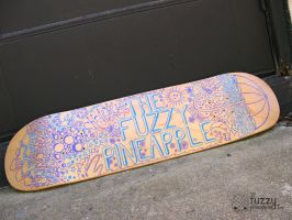 Custom Design Hand Painted Skateboard Deck by TheFuzzyPineapple