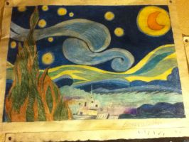 Impressionism: Vincent Von Goughs Starry Night by TheFemaleDoctor1073
