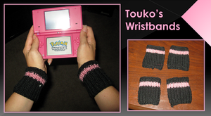 Touko's Knitted Wristbands by craftysorceress