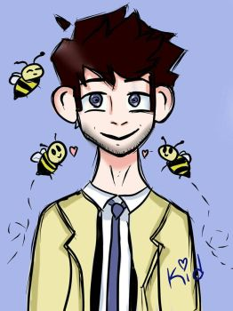 Castiel and the Bees  by KidTheScienceSid