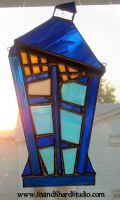 Stained Glass T.A.R.D.I.S. by StaindShardStudio