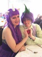 Spike and Rarity cosplay - Sparity! by DiscordIsMagic