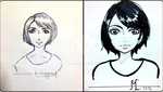 Self Potrait BEFORE and  AFTER by MiMiMiLiter