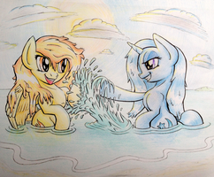 Commission: Spitfire and Trixie's vacation by Zookz25