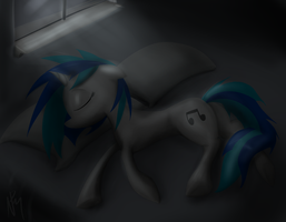 Sleeping Vinyl by killamnjaro