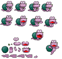 Escargoon Sprite Sheet (SMBGT) by KingAsylus91