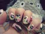 Soot Sprite Nails by cheniie