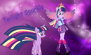 MLP/EQG-Twilight Sparkle Wallpaper (Rainbow Power) by nhanminhle750