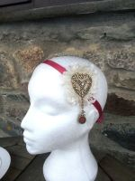 Love In Lace Lace Heart Headband by paradiseshoretwins
