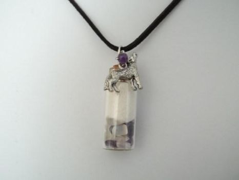 White Wolf Healing Spirit Pendant Necklace by DaybreaksDawn