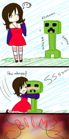 NEVER hug a creeper by TaffyToots