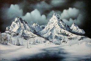 'Snowy Night' by DarrenCarnall