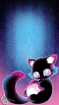Cosmo Cat Wallpaper by LianhuaStardrops