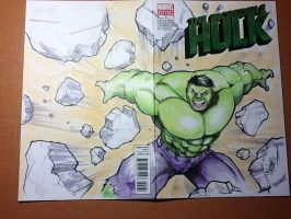 Hulk sketch cover by renecordova