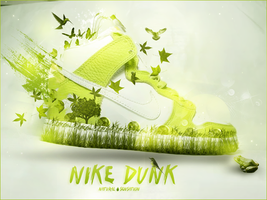 Green Nike Dunk by Hunter-Life