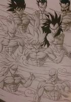 Full-Blood Saiyans after DOPV by NovaSayajinGoku