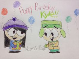 Happy Birthday Kyle by VictorVoltfan1