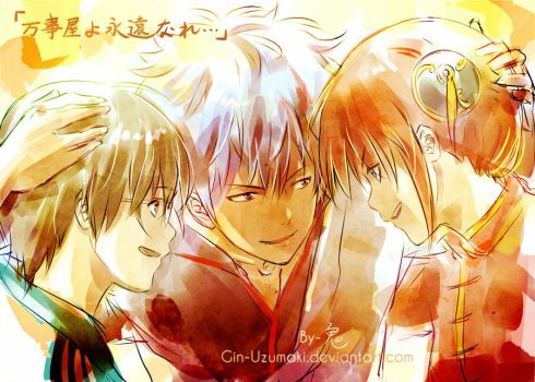 GINTAMA-Together Forever-the last scene of movie by Gin-Uzumaki