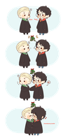 Chibi Drarry - Smoochies by Cremebunny