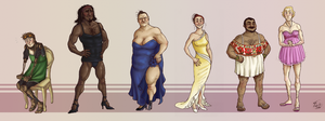 PRETTY DRESS LINEUP by Jackarais