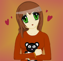 Panda Loving Girl by Dumdodoor