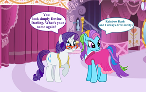 Rarity meets G3 Rainbow dash by Vector-Brony